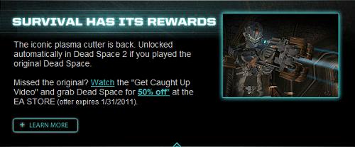 Dead Space Unlock Bonus