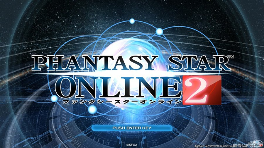 Start Screen for PSO 2