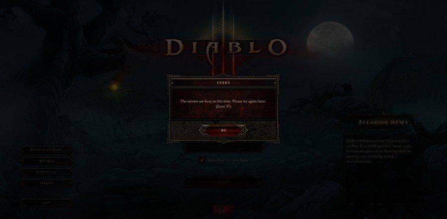 Diablo III Servers Down