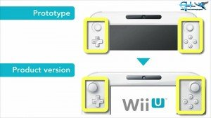 Button placement on the Wii U