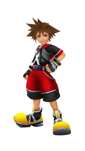 Character art for Sora in Kingdom Hearts Dream Drop Distance