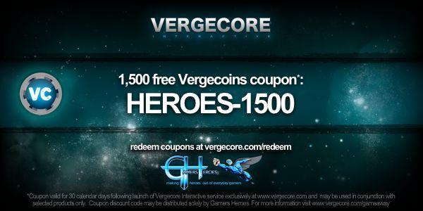 VergeCore Giveaway Promo Code