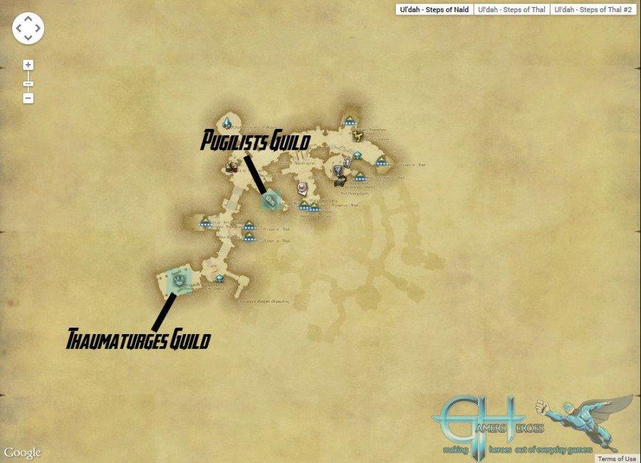 Ul'Dah Steps of Thal Map