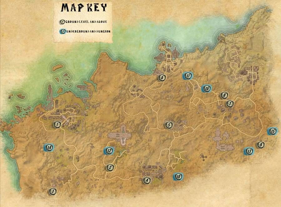 Alikr Desert Skyshards Locations Map Guide