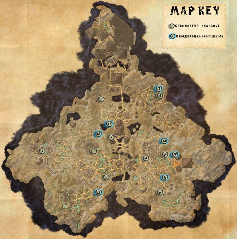 Coldharbour Skyshards Locations Map Guide