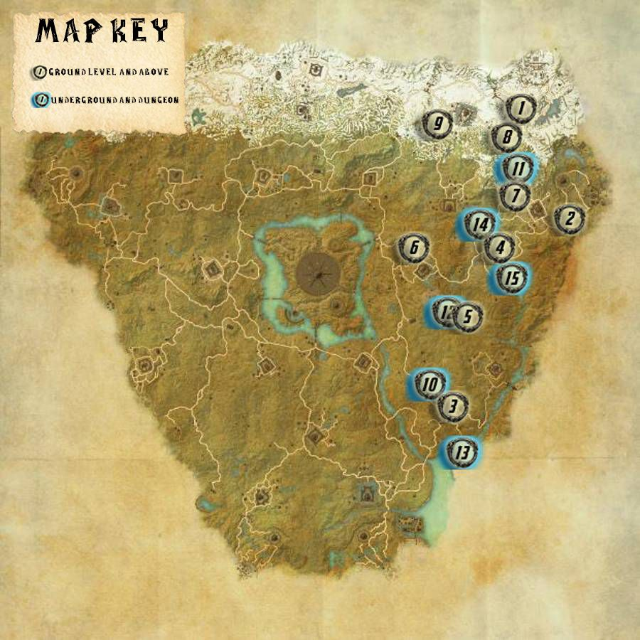 Cyrodiil Ebonheart Skyshards Locations Map Guide