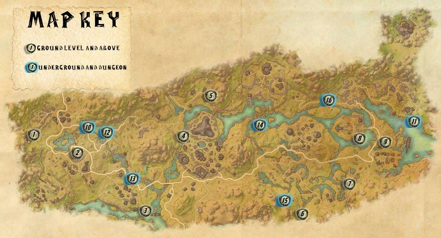 Dehsaan Skyshards Locations Map Guide