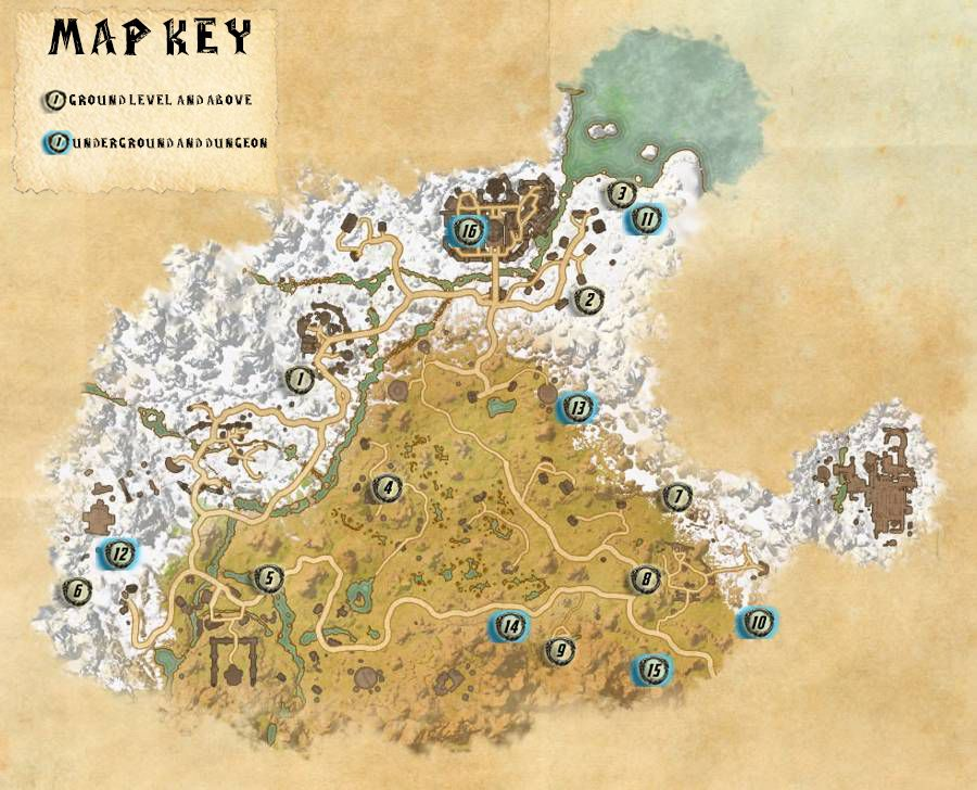 Eastmarch Skyshards Locations Map Guide