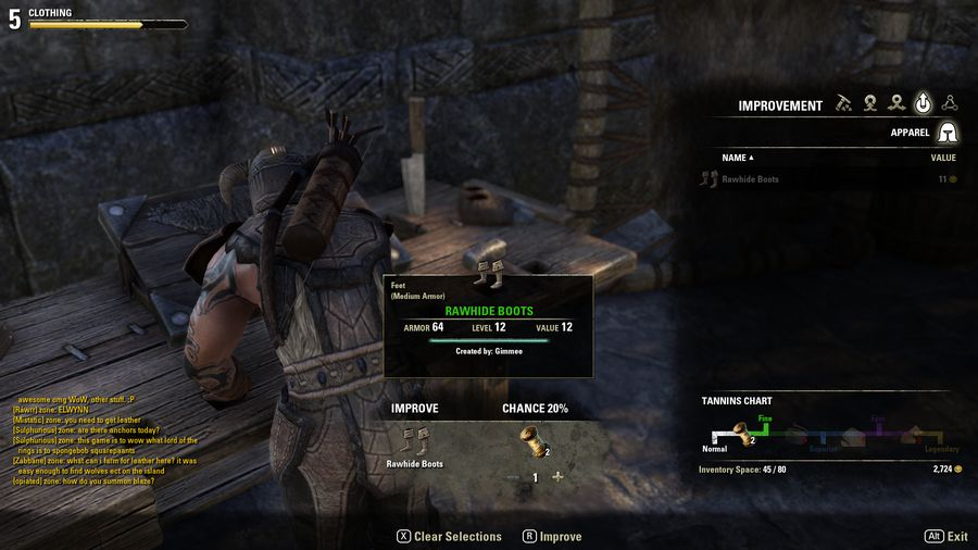 Elder Scrolls Online Crafting Guide How To Improve Items