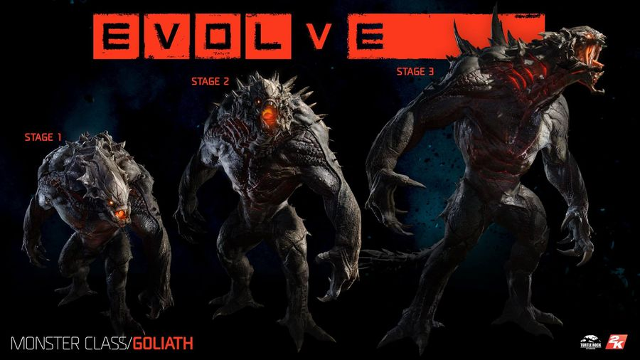 The Evolution Of Goliath In Evolve