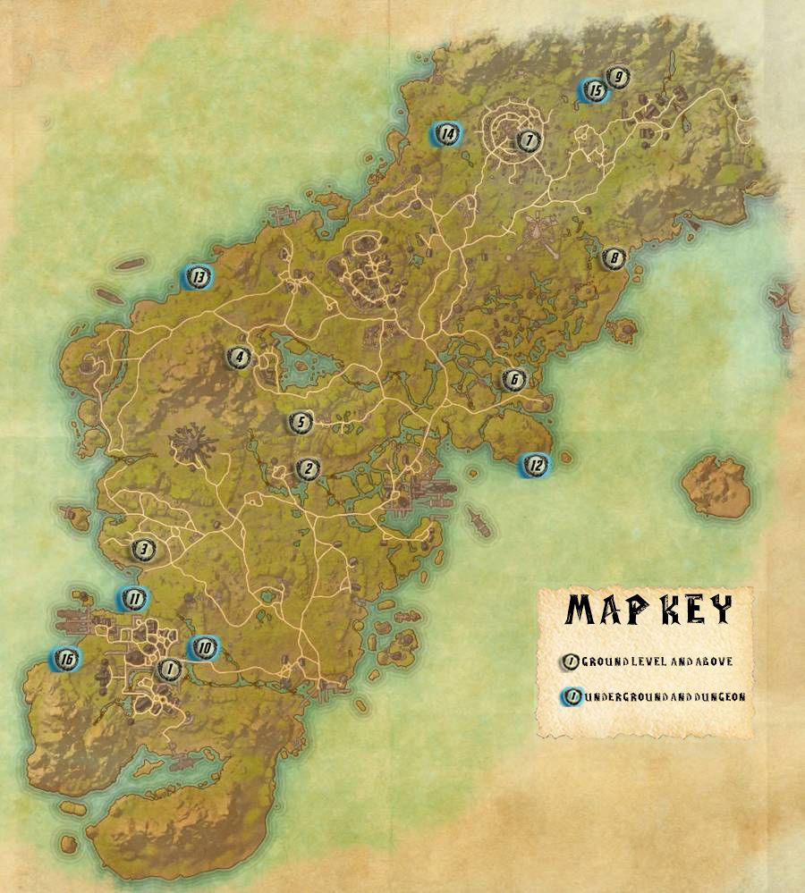 Glenumbra Skyshards Locations Map Guide