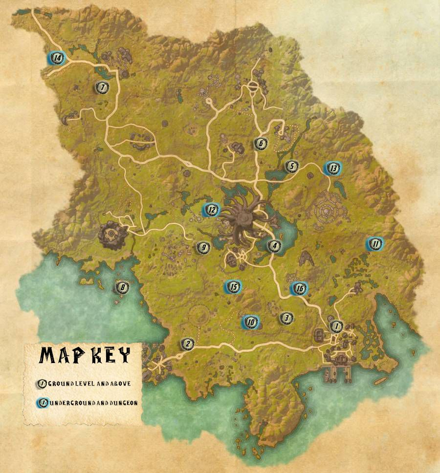 Grahtwood Skyshards Locations Map Guide