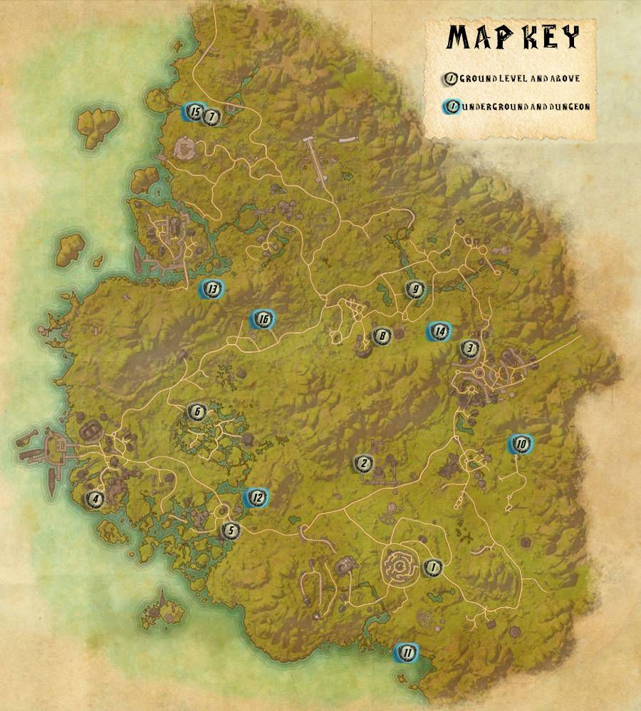 Greenshade Skyshards Locations Map Guide