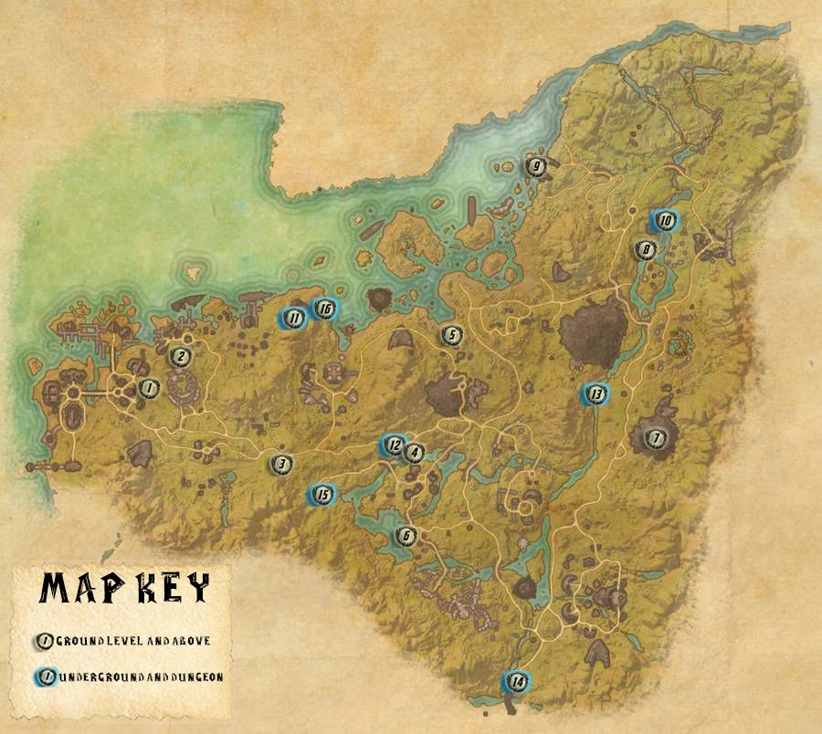 Malabal Tor Skyshards Locations Map Guide