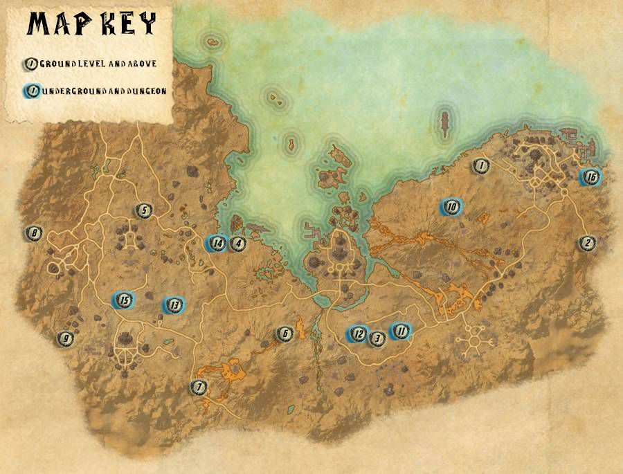 Stonefalls Skyshards Locations Map Guide