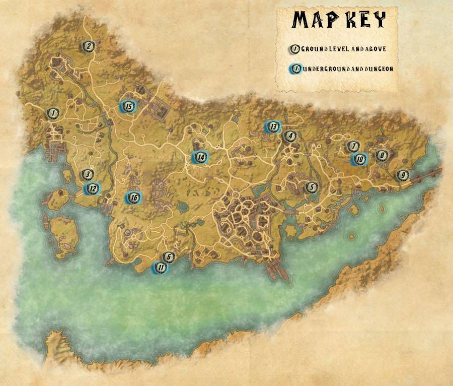 Stormhaven Skyshards Locations Map Guide