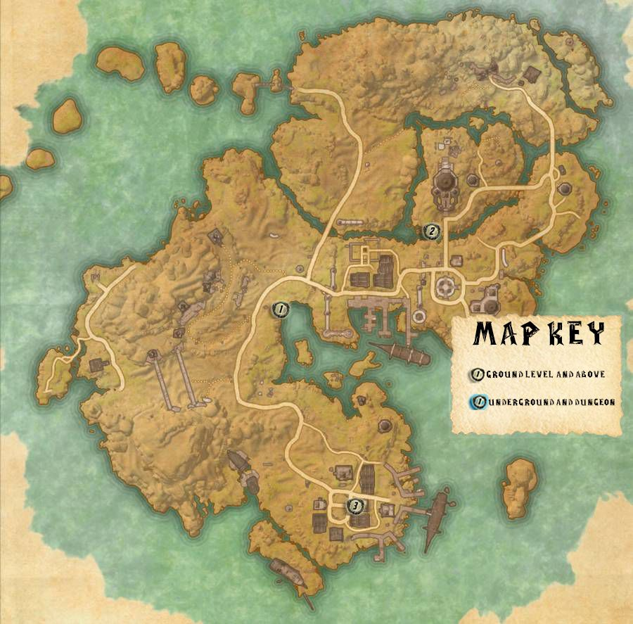 Stros M'Kai Skyshards Locations Map Guide