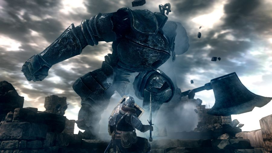 A fight with the Iron Golem