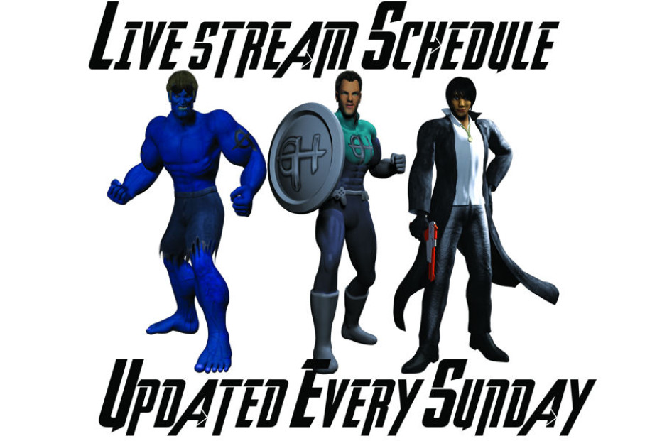 Gamers Heroes Live Stream Schedule