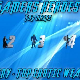 Top 5 Destiny Exotic Weapons
