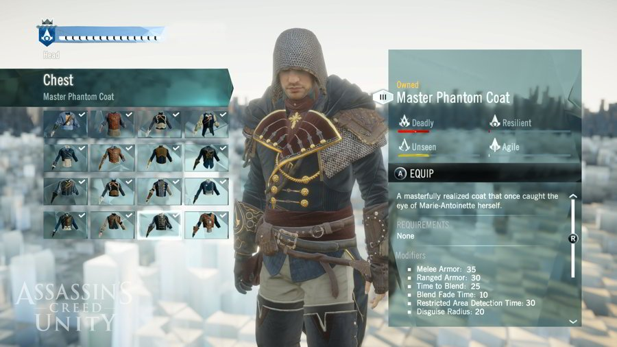 Assassin's Creed Unity Review - Customization