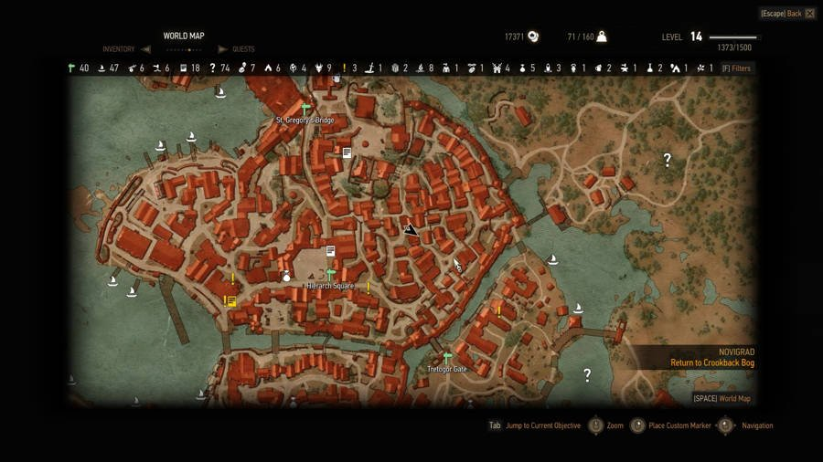 The Witcher 3 Triss House Map Location