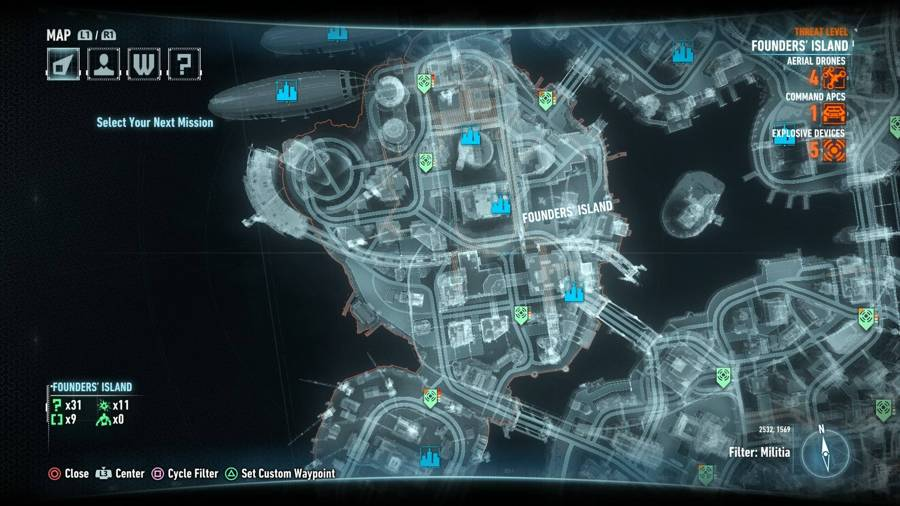 Batman Arkham Knight Campaign For Disarmament Founders' Island Map