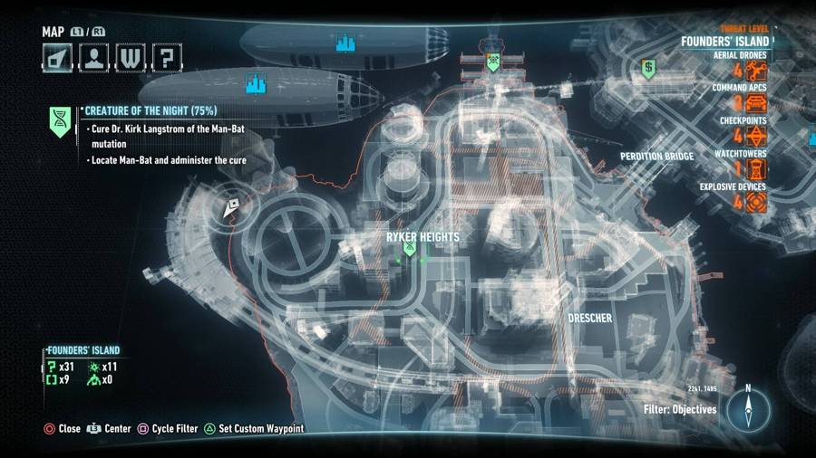 Batman Arkham Knight Creature Of The Night Map 2