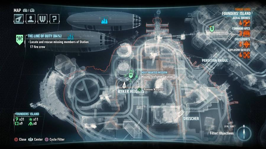 Batman Arkham Knight The Line Of Duty Map 4