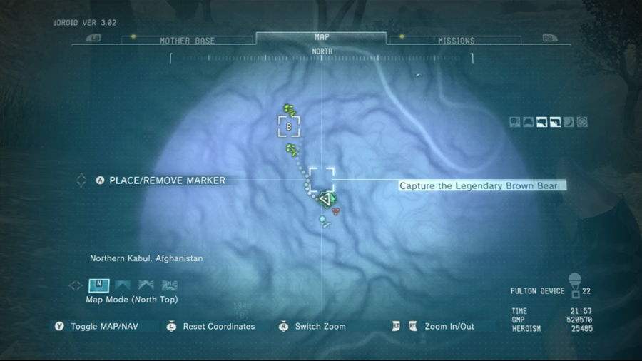 Metal Gear Solid 5 Legendary Brown Bear Location
