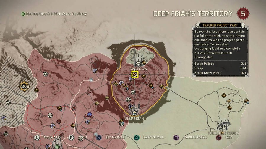 Mad Max Deep Friah's Temple Stronghold Guide - Scrap Crew Locations