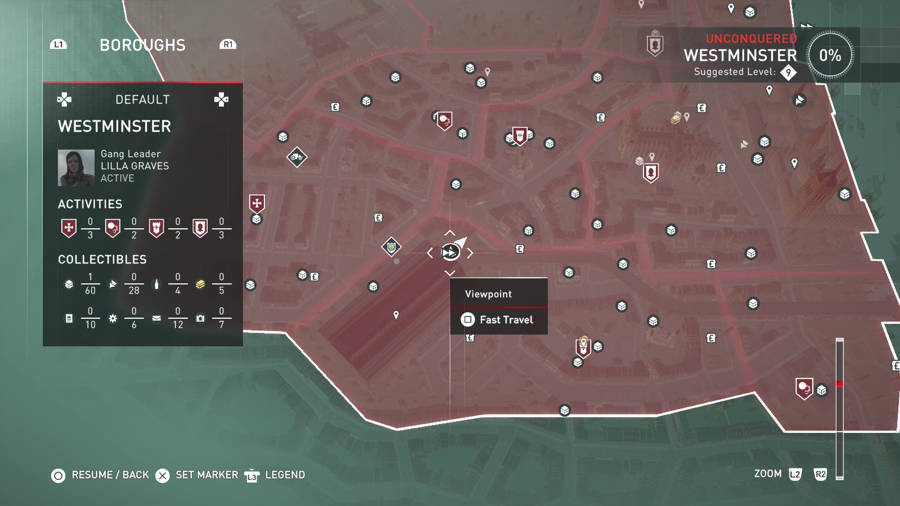Assassins Creed Syndicate Westminster 1 Treasure Map Guide