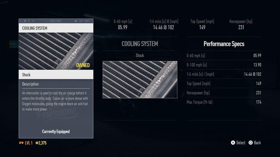 Need For Speed Subaru BRZ Premium Stats