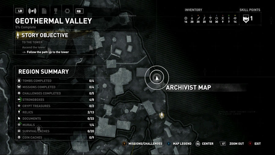Rise Of The Tomb Raider Geothermal Valley Map 1