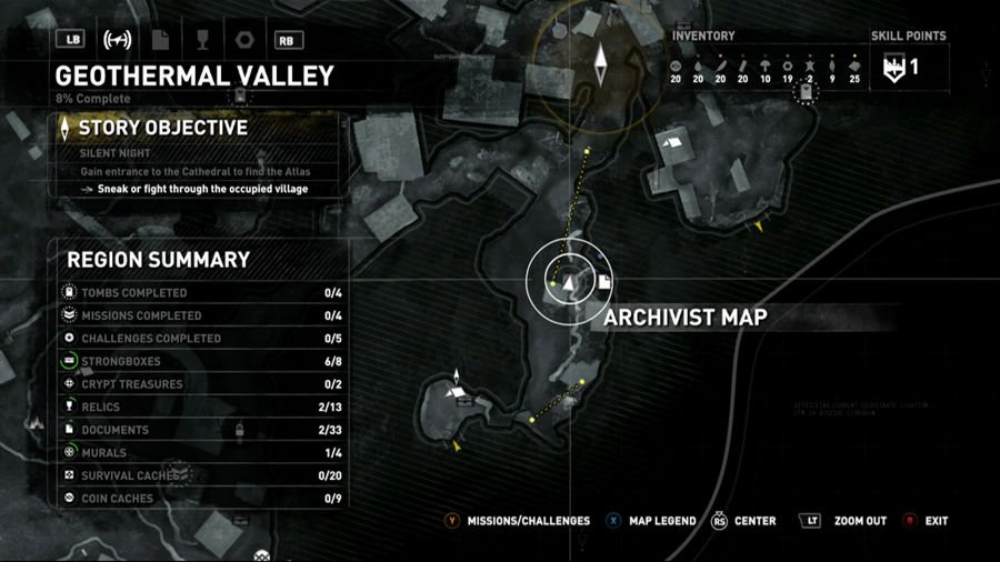 Rise Of The Tomb Raider Geothermal Valley Map 2