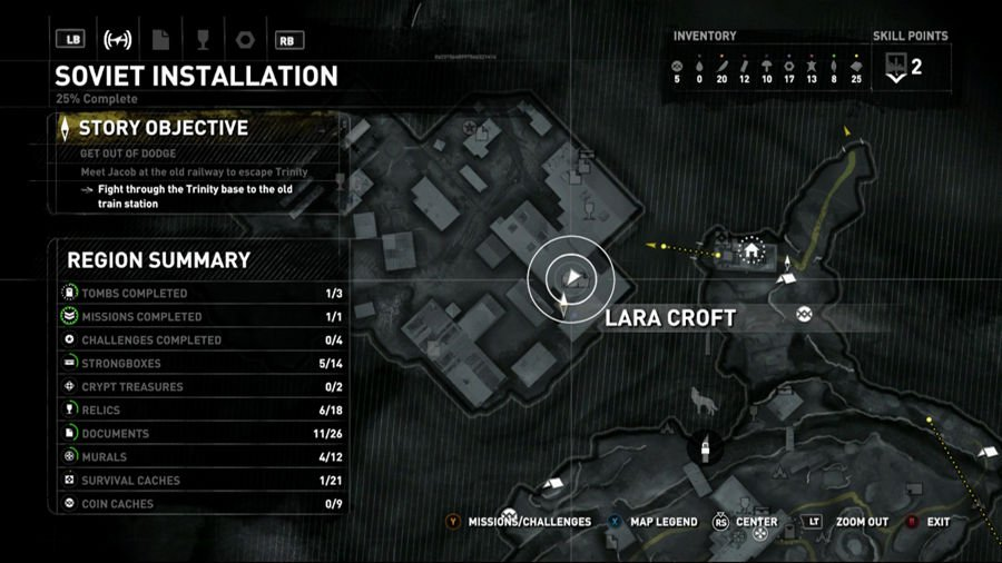 Rise Of The Tomb Raider Siberia Archivist Map 2