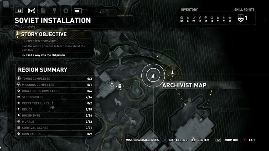 Rise Of The Tomb Raider Siberia Archivist Map 3