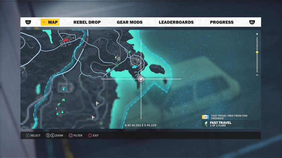 Just Cause 3 Vehicle Location Guide - Stria Carera G Location