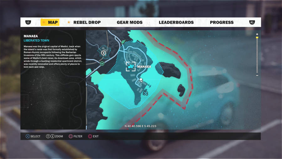 Just Cause 3 Vehicle Location Guide - Stria Kavala Location