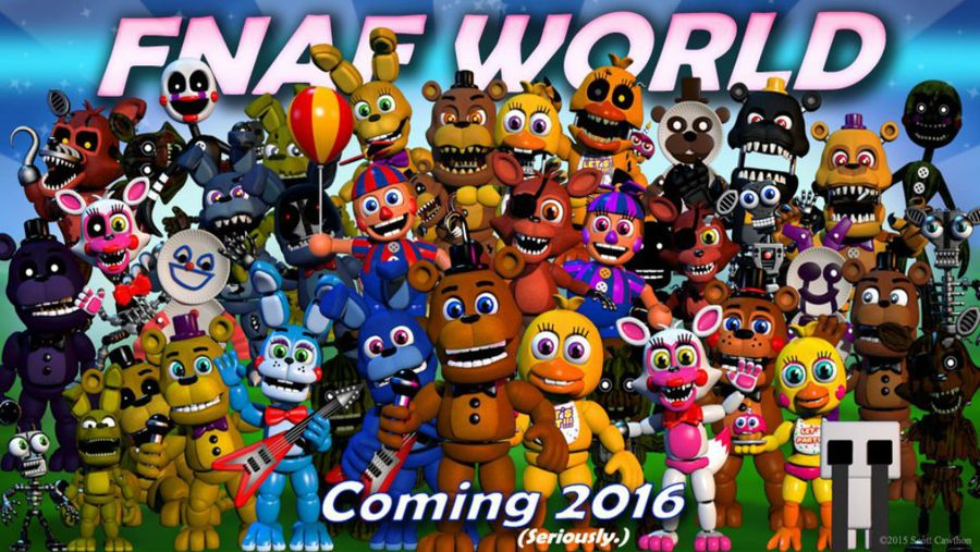 FNaF World Out Now On Steam!