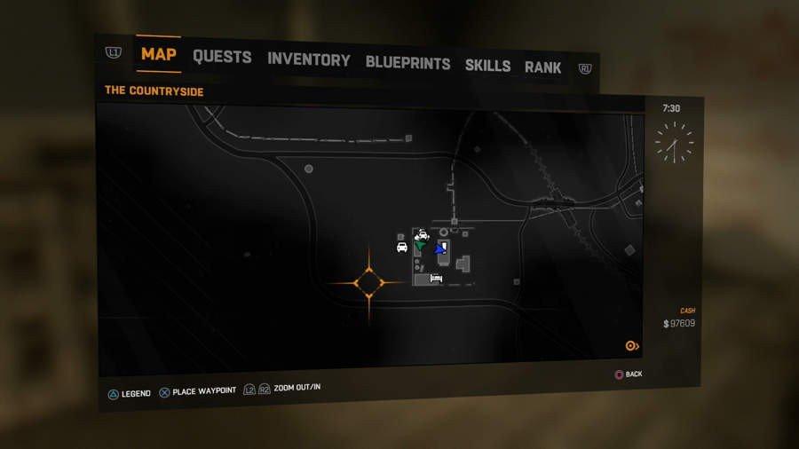 Arrow Blueprint Location
