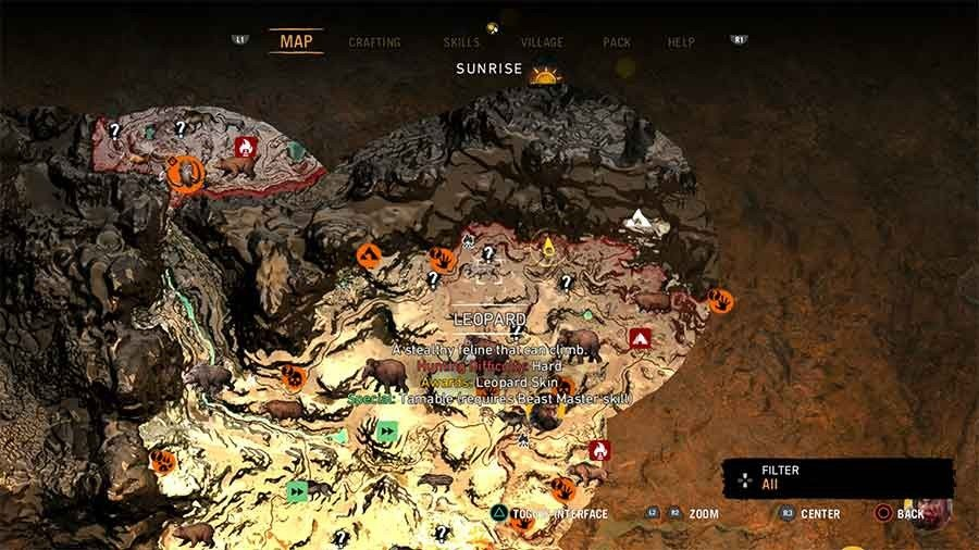Far Cry Primal Animal Beast Taming Guide Where To Find All