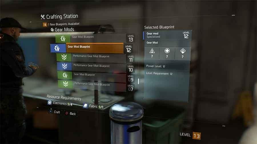 Gear Mod Blueprint