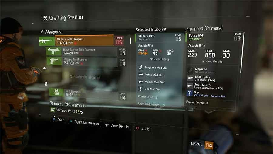 Tom clancys the division crafting blueprints location guide all military p416 blueprint malvernweather Images