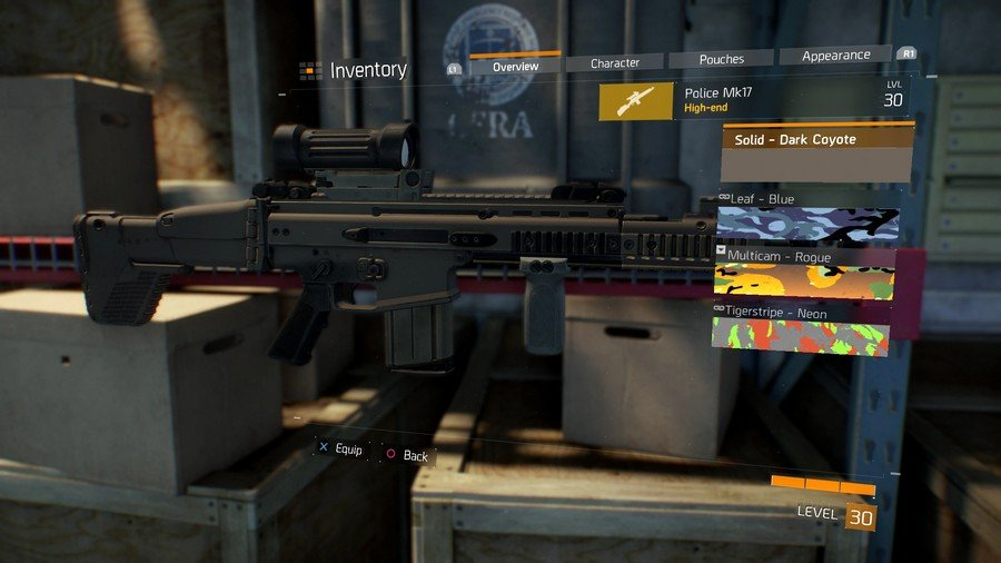The Division Dark Coyote Weapon Skin