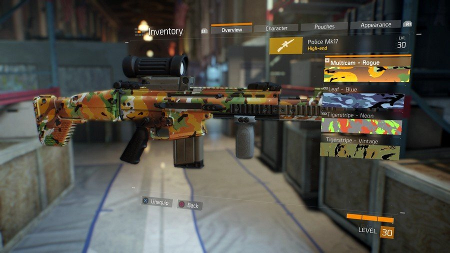 The Division Multicam Rogue Weapon Skin
