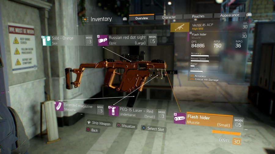 he Division Solid Orange Weapon Skin