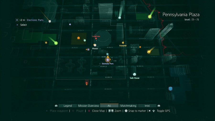 The Divison Electronic Parts Location 1