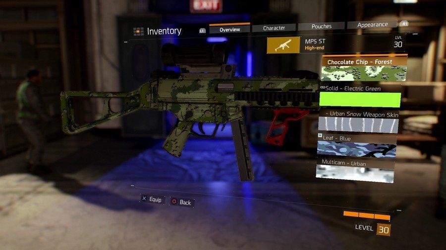 The Divison Weapon Skins List