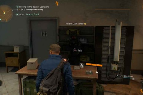 Where Is The Rewards Claim Vendor In Tom Clancy's The Division